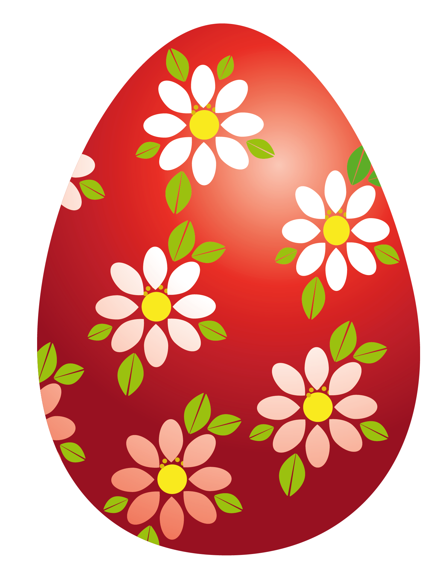 1494x1919 Easter Red Egg With Flowers Png Clipart Pictureu200b Gallery