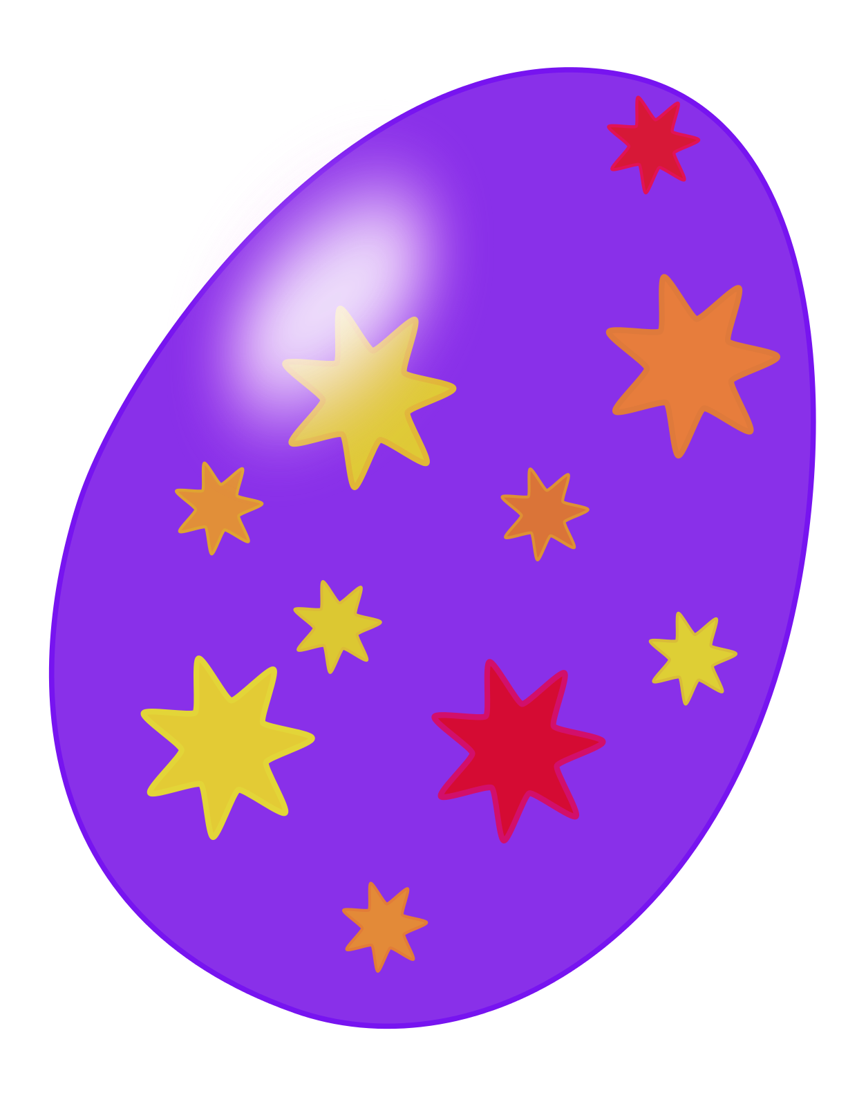 1240x1594 Free Easter Colored Egg Clipart