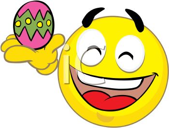 350x264 Holiday Smiley Holding An Easter Egg