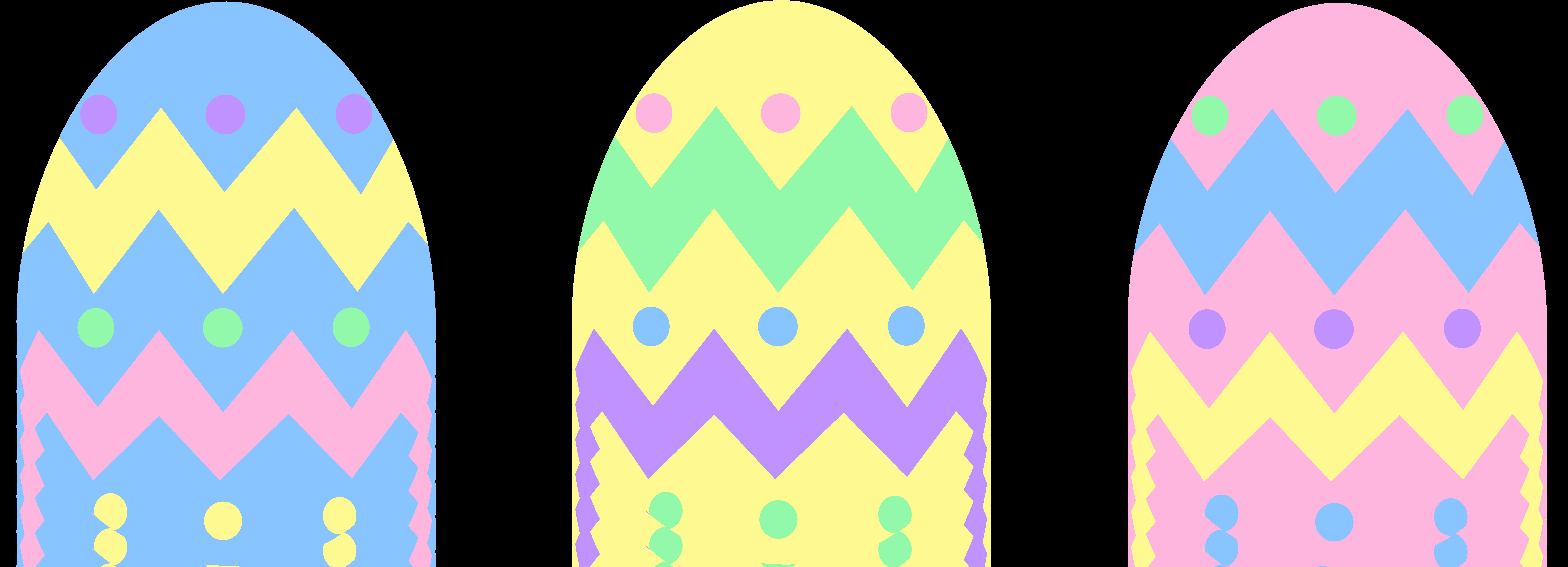7655x2769 Pastel Easter Egg Clipart