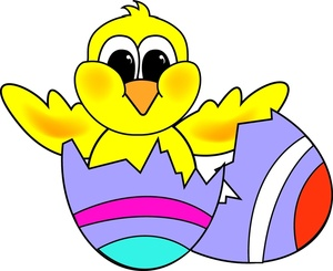300x245 Pictures Of Easter Eggs Chick Clip Art Free