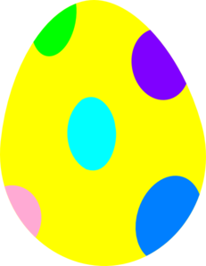 231x297 Small Easter Egg Clipart
