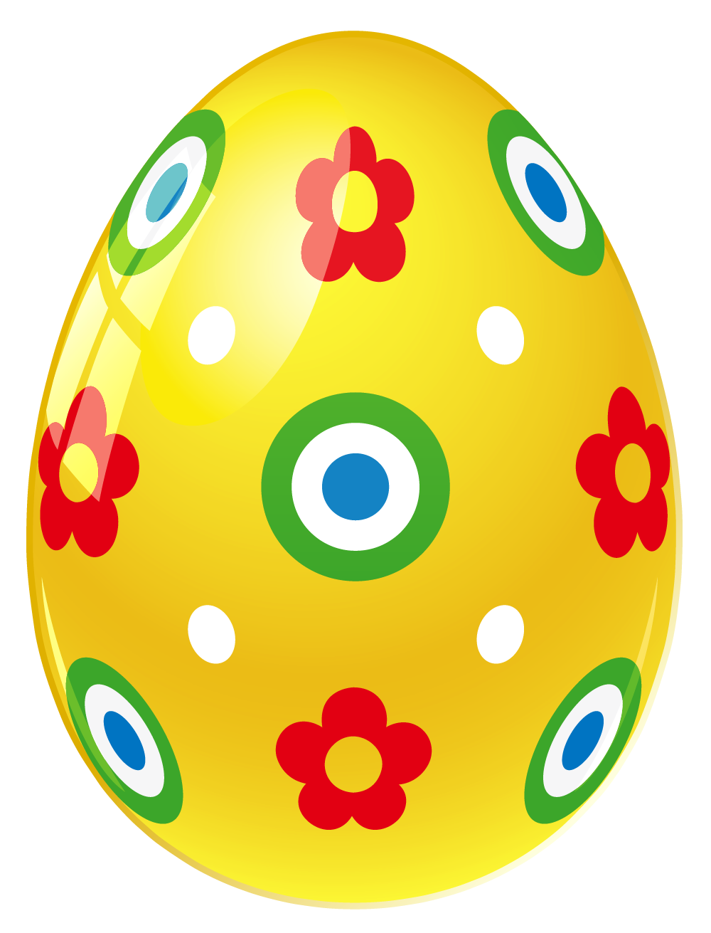1000x1311 Yellow Easter Egg With Flowers Png Pictureu200b Gallery Yopriceville