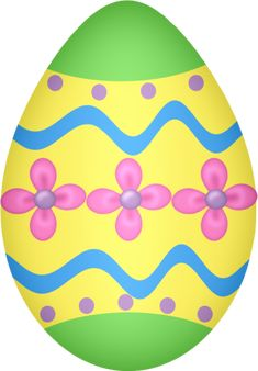 235x338 Easter Png Sky Blue Easter Egg With Flowers And Yellow Bow Png