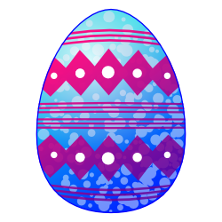 250x250 Blue Easter Egg Clip Art Free Borders And Clip Art
