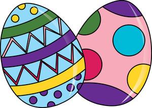300x213 Clipart Of Easter Eggs