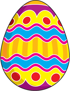 240x310 Clipart Pictures Of Easter Eggs