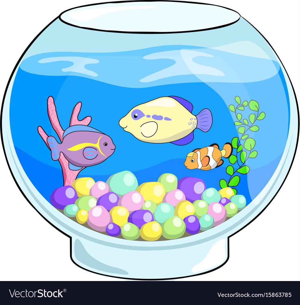 1000x1018 Fish Tank Fish Tank Cartoon Bowl Goldfish Aquarium Stock Vector