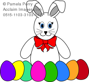 300x274 Easter Bunny With Eggs Clipart Hd Easter Images