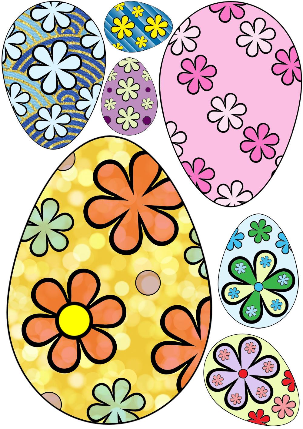 1000x1415 Decorative Easter Eggs (Flower Design) Rooftop Post Printables