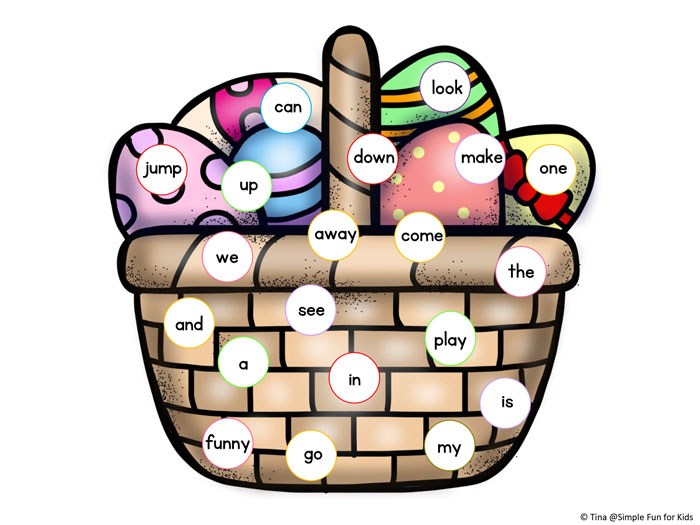 700x525 Easter Egg Sight Word Read And Cover Game