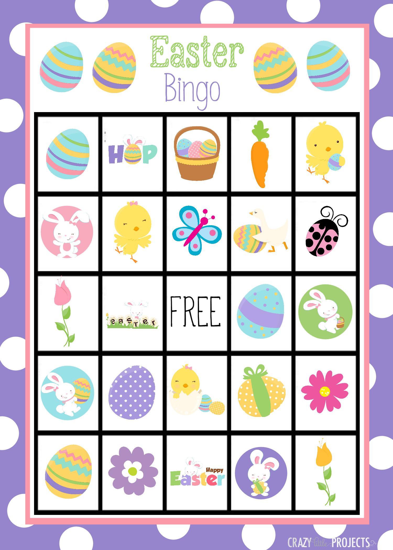 1500x2100 Printable Easter Bingo Game For Kids