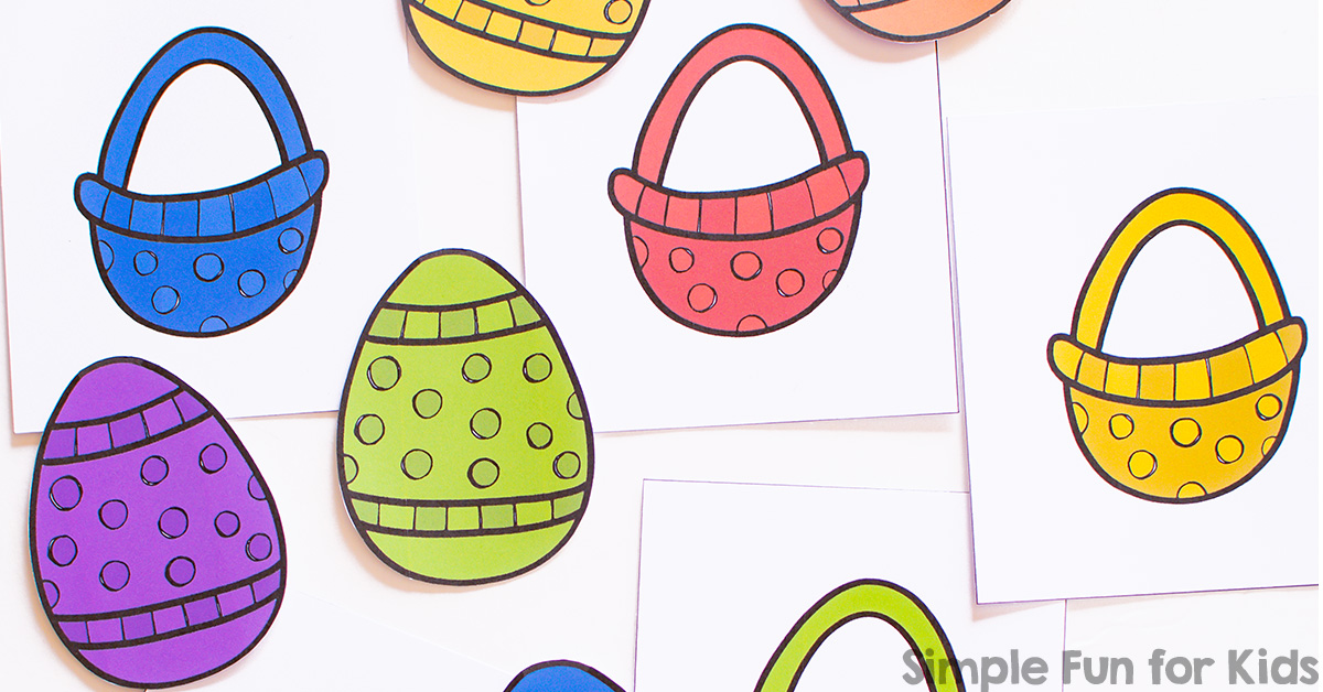1200x628 Rainbow Easter Egg Color Matching Game