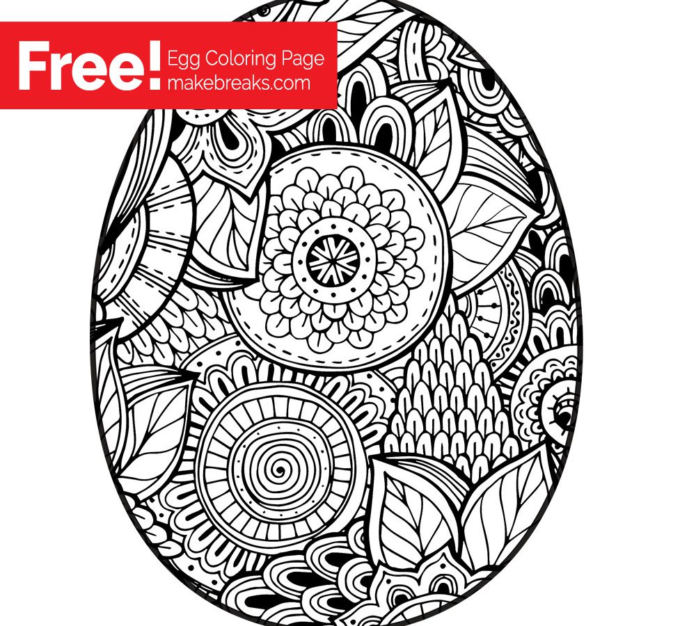 Easter Eggs Colouring Pages To Print At GetDrawings