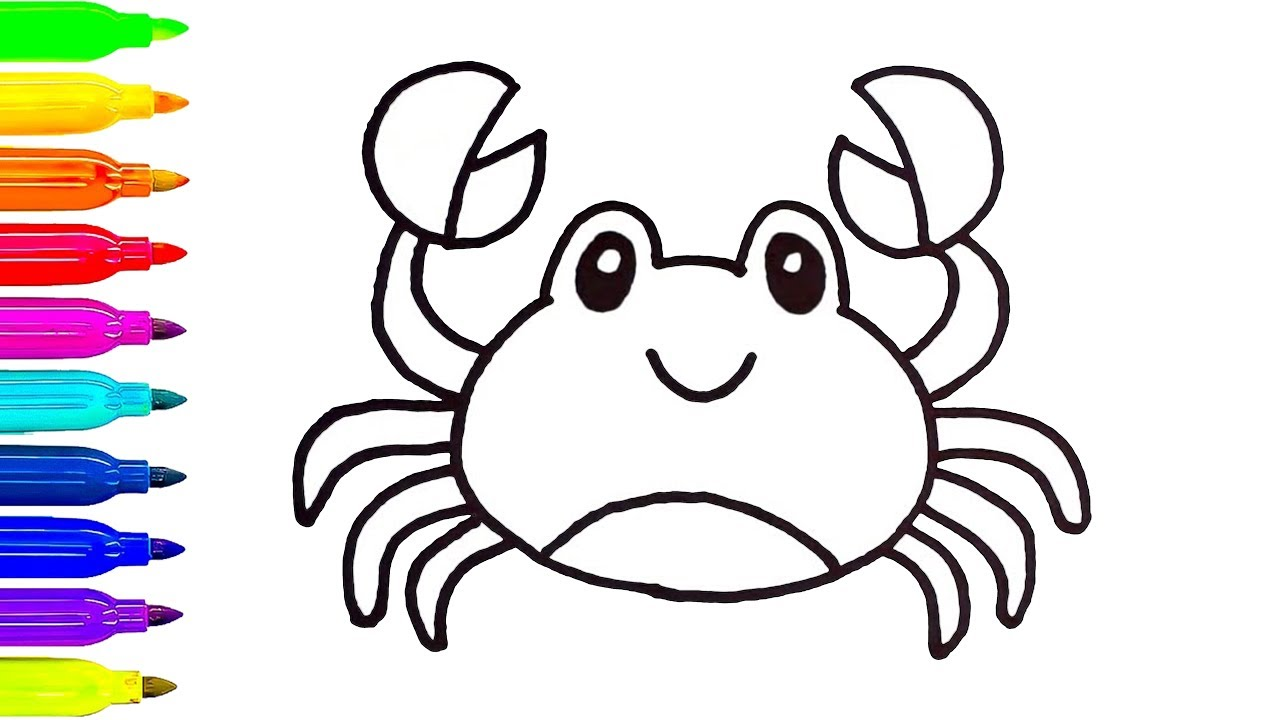 1280x720 The Best Crab Coloring Book Stock Vector Image Of Beach Marine