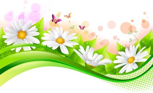 500x305 Easter Flower Border Clip Art Free