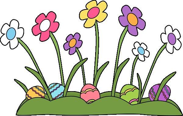 600x383 Easter Flower Clip Art Free