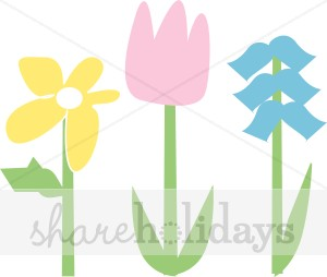 300x254 Easter Stylized Flower Clipart Easter Clipart