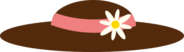 600x172 Free Spring Hats And Flowers Clipart Clip Art Hat Flower