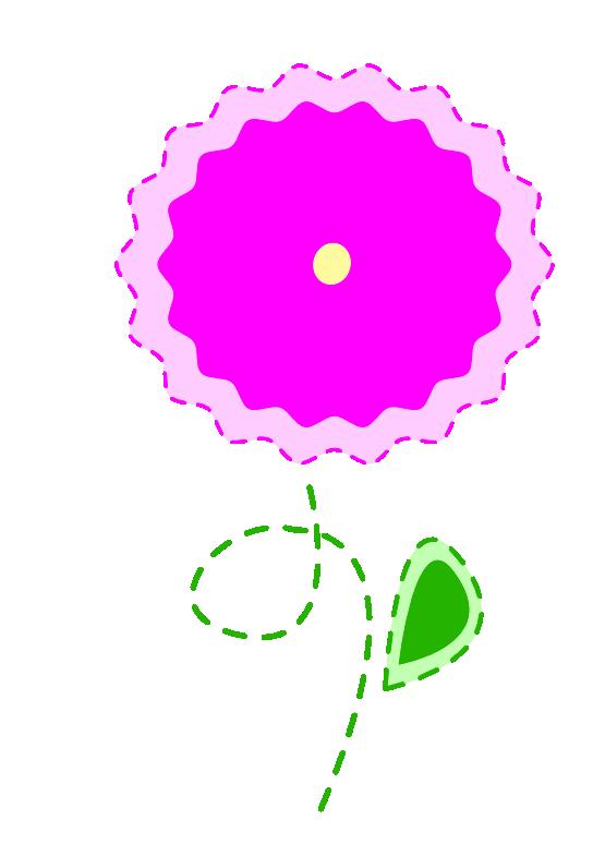 555x785 Clip Art Easter Flower 1 Plant Easter Scallywag