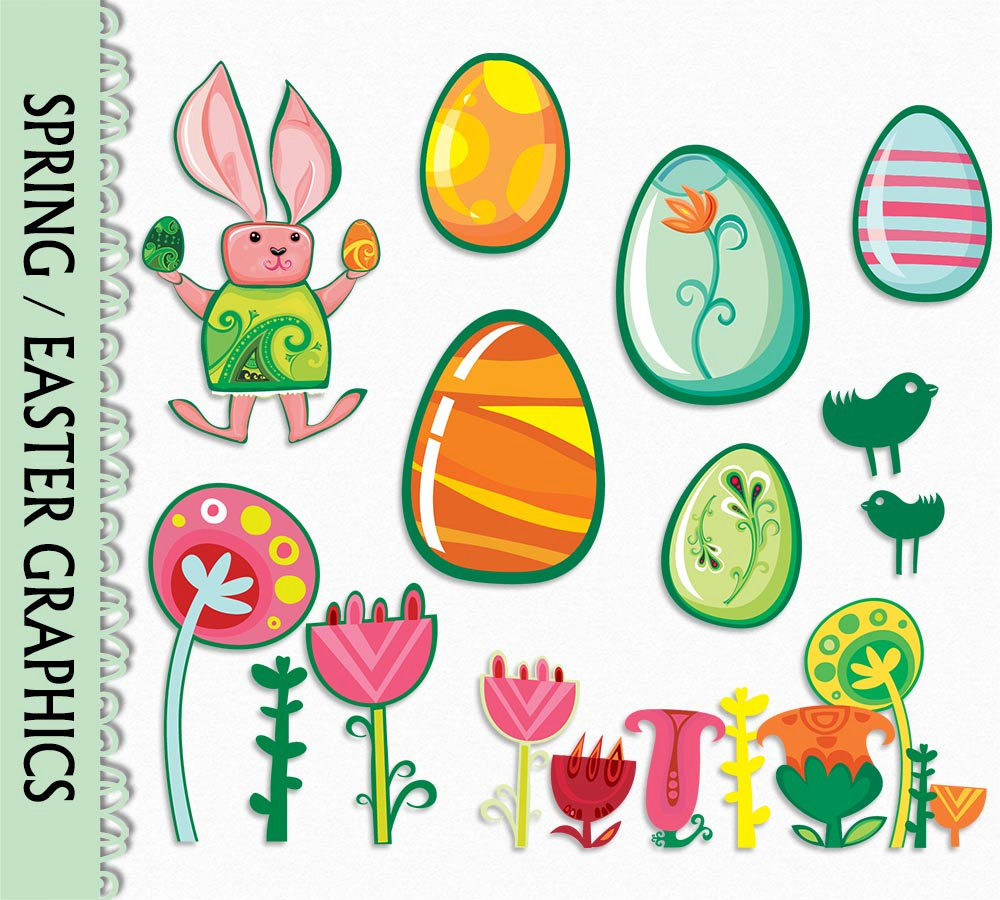 1000x900 Easter Clip Art Graphic Flowers Plant Nature Spring Clipart