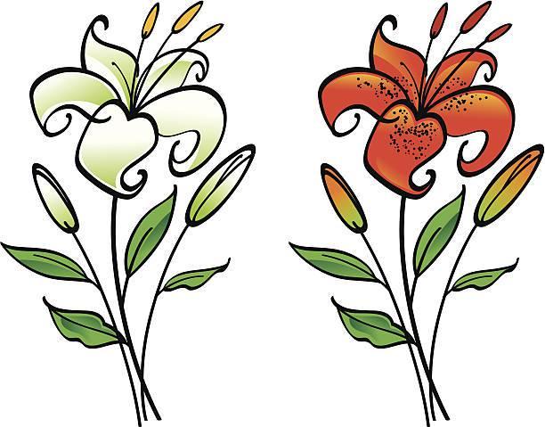 612x479 Vintage Easter Lily Clip Art