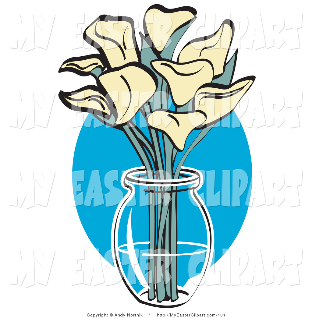 1024x1044 Clip Art Of A Bunch Of White Calla Lilies In A Clear Glass Vase