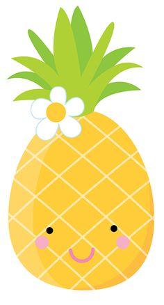 236x438 Cute Pineapples Clipart Set