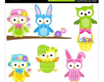 340x270 Owl Easter Free Clip Art Happy Easter Easter Clip