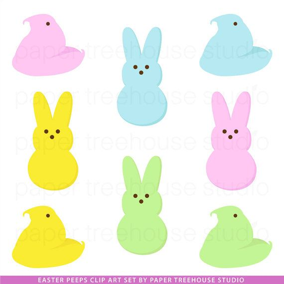 570x570 Clip Art Set Easter Candy Bunnies And By Papertreehousestudio