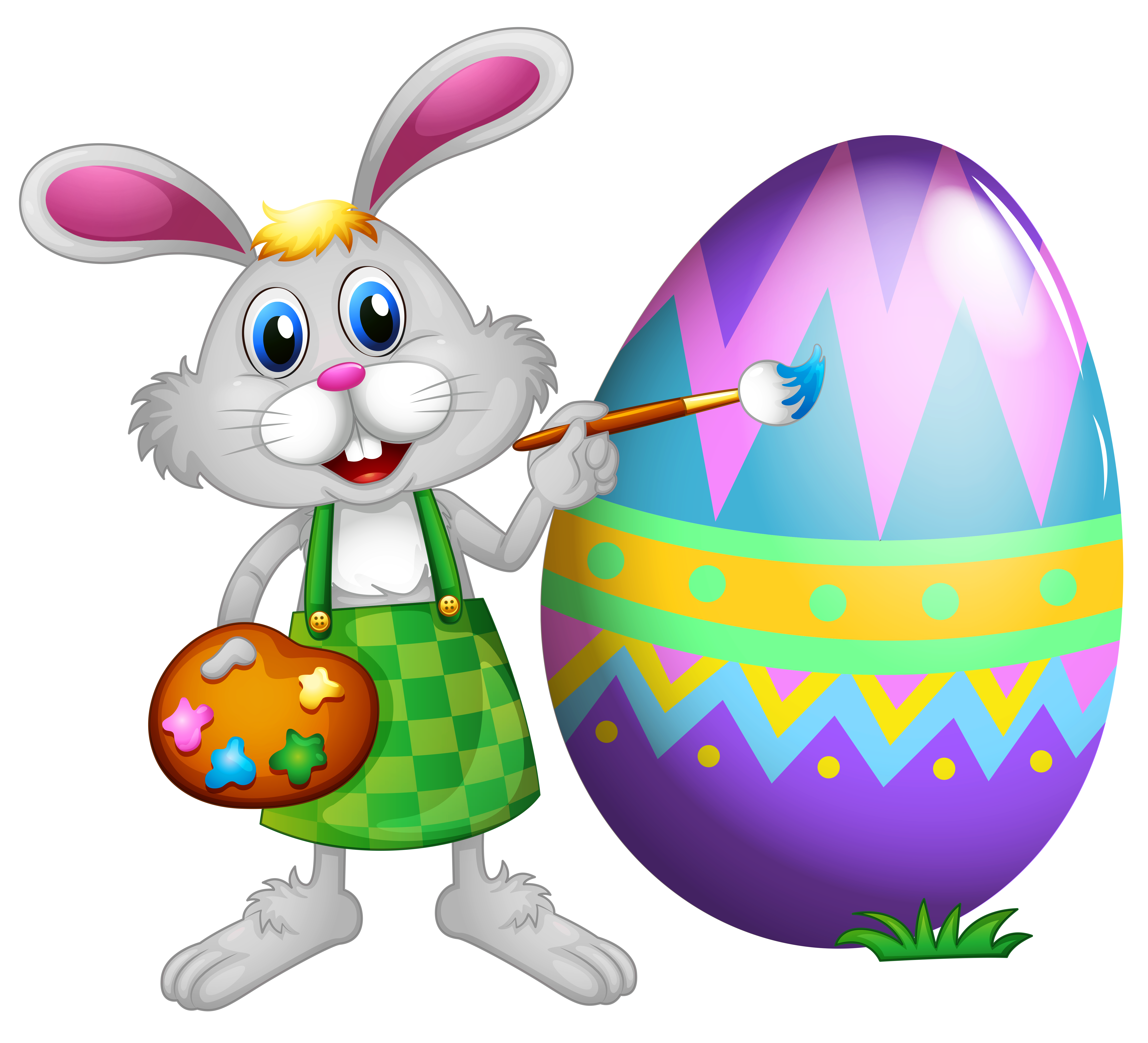 5626x5112 Colorful Clipart Bunny