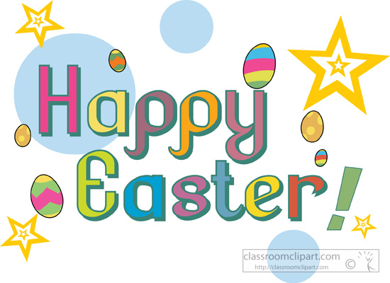 550x400 Happy Easter Banner Clip Art Image