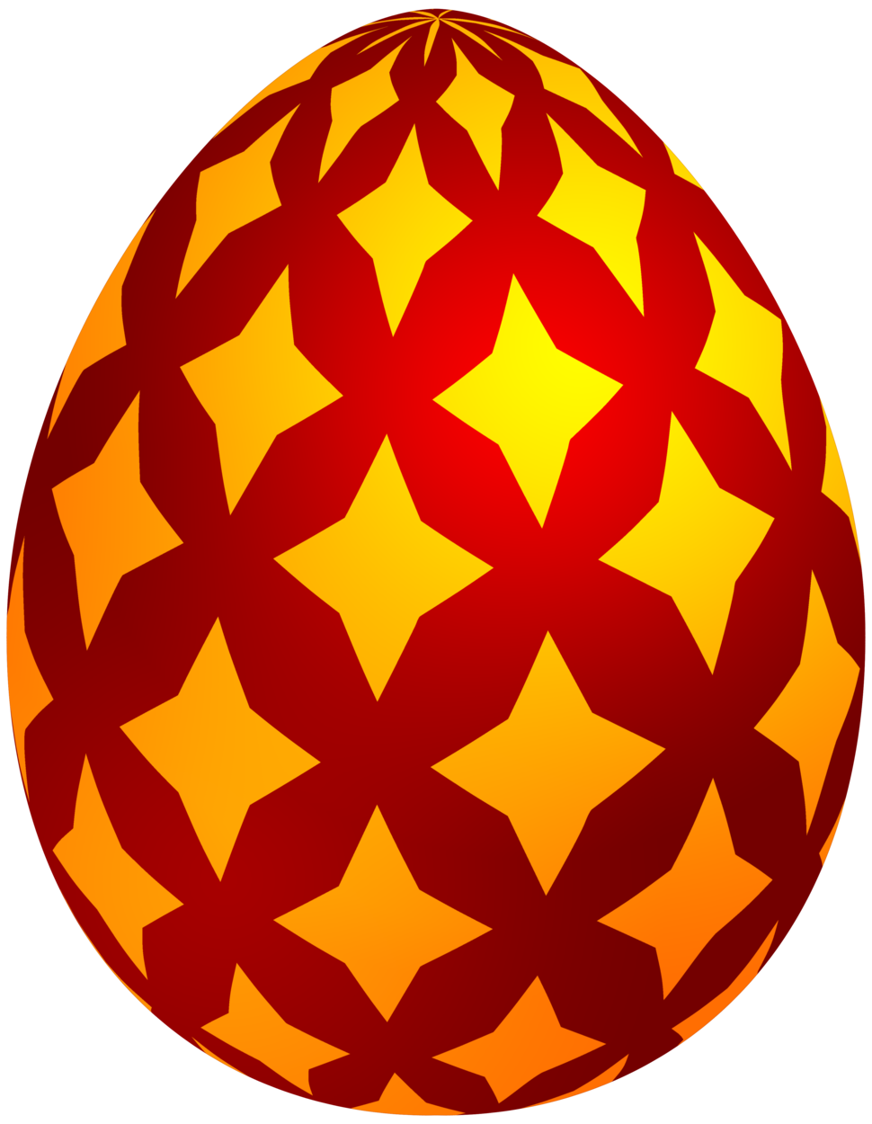 970x1250 Red Easter Decorative Egg Png Clip Art