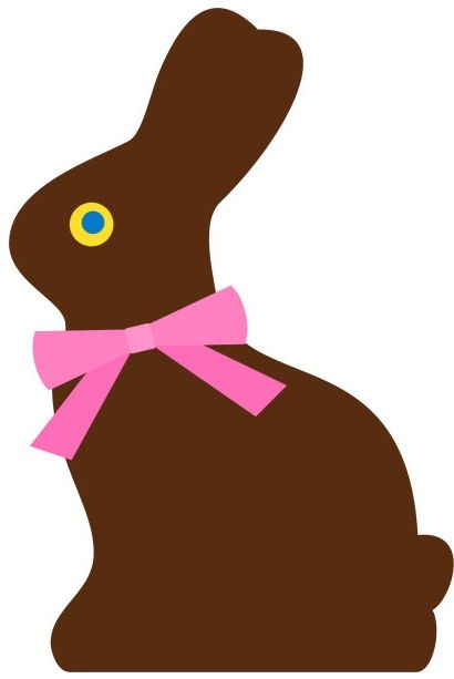 410x613 Chocolate Easter Bunny Clipart