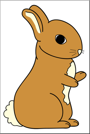 304x449 Clip Art Cartoon Bunny 2 Color 2