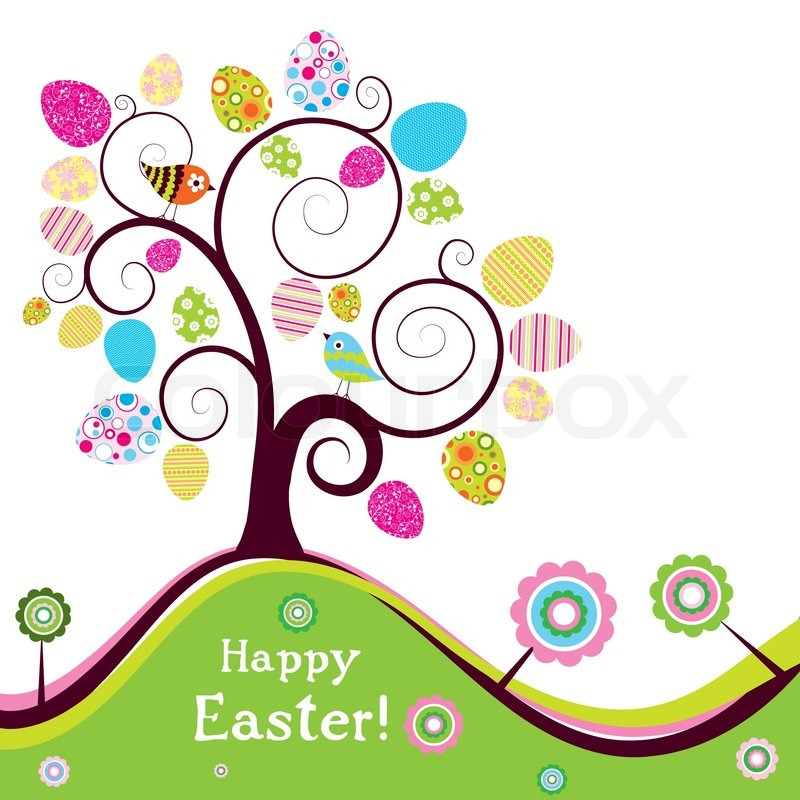 800x800 Template Easter Greeting Card, Vector Stock Vector Colourbox