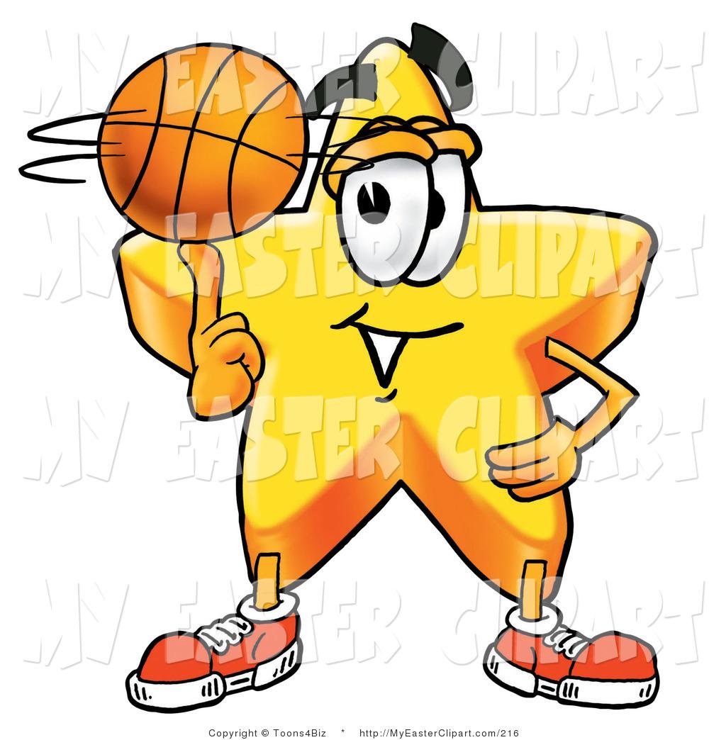 1024x1044 Clip Art Of A Gold Star Mascot Cartoon Character In An Easter