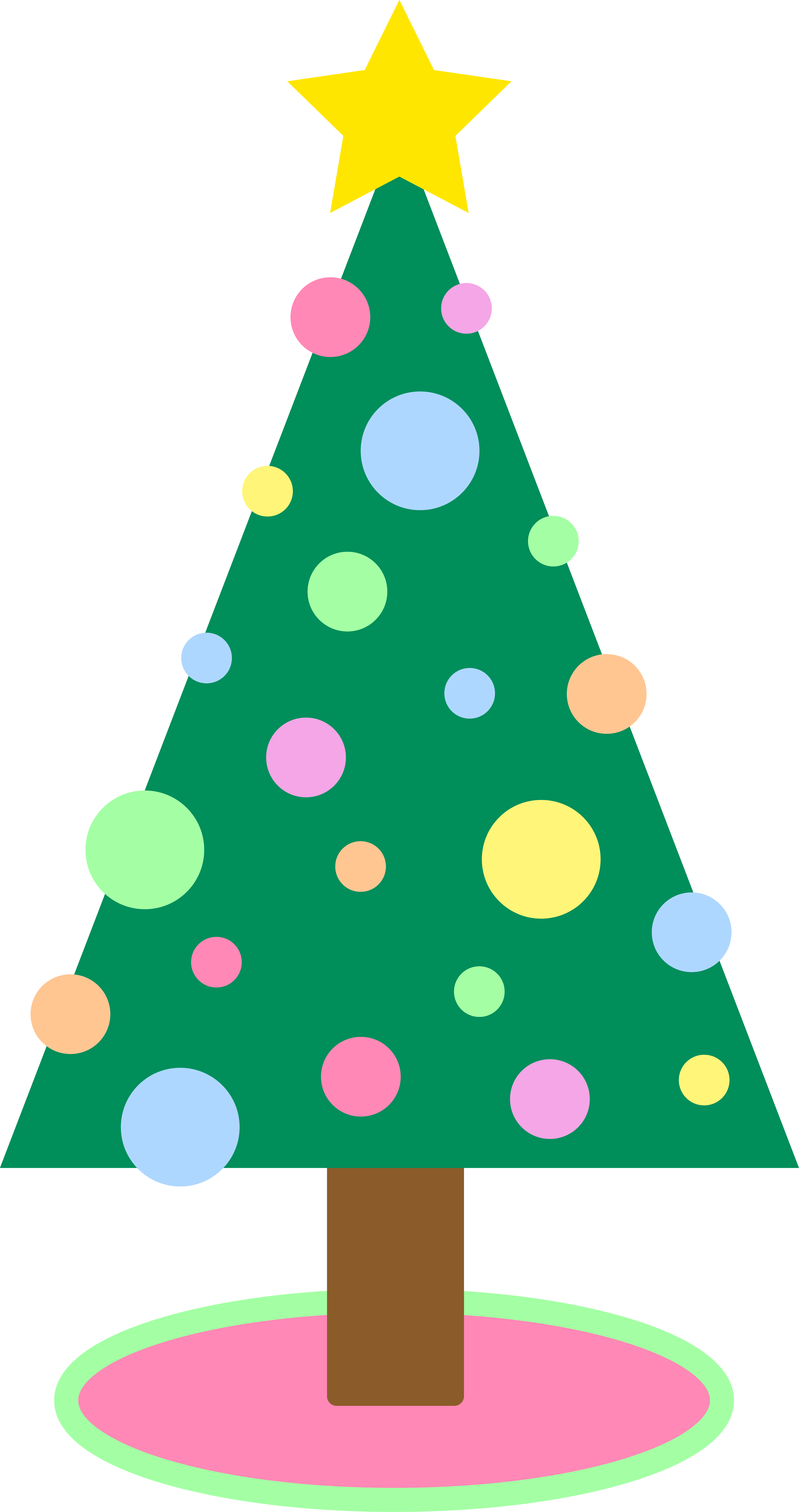 4150x7856 Cute Christmas Tree Clipart