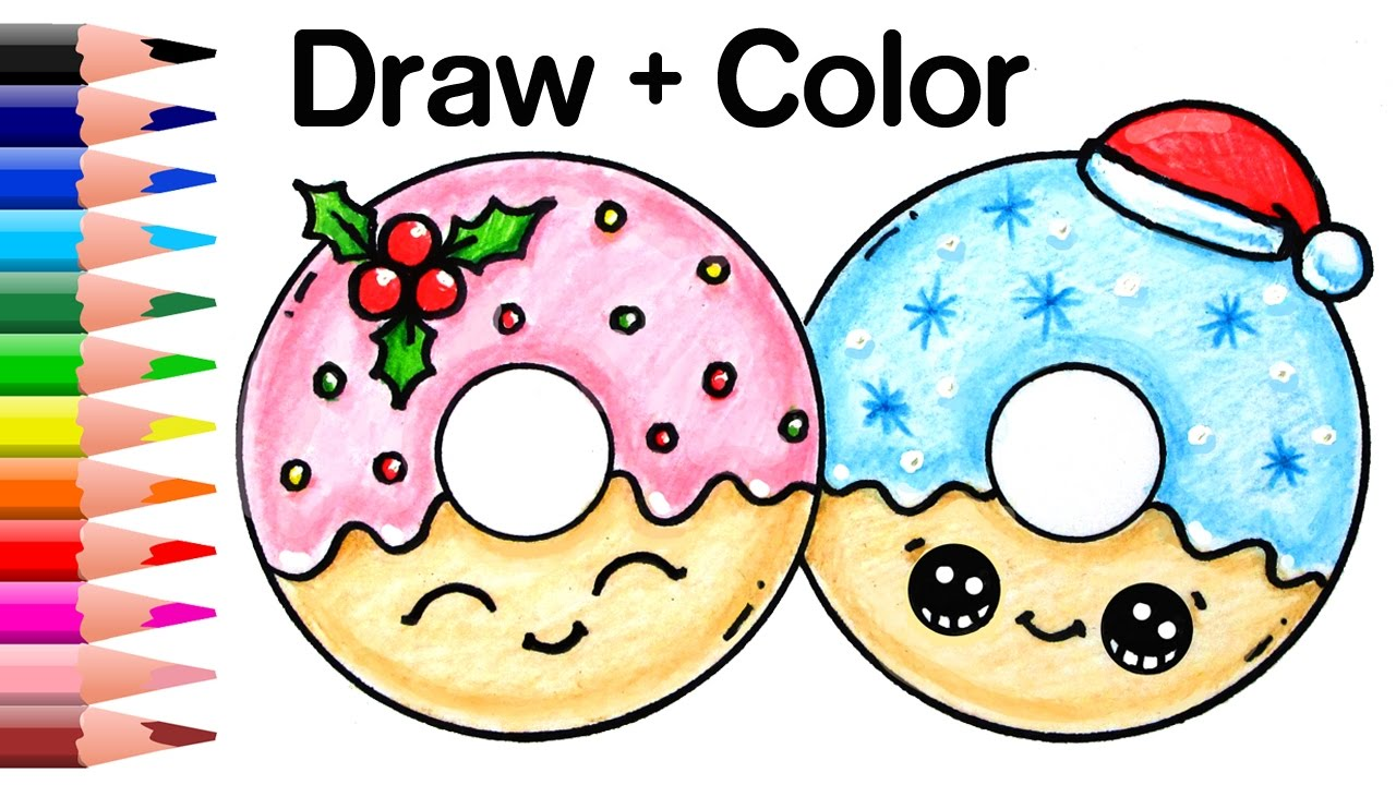 1280x720 Drawn Doughnut Cute