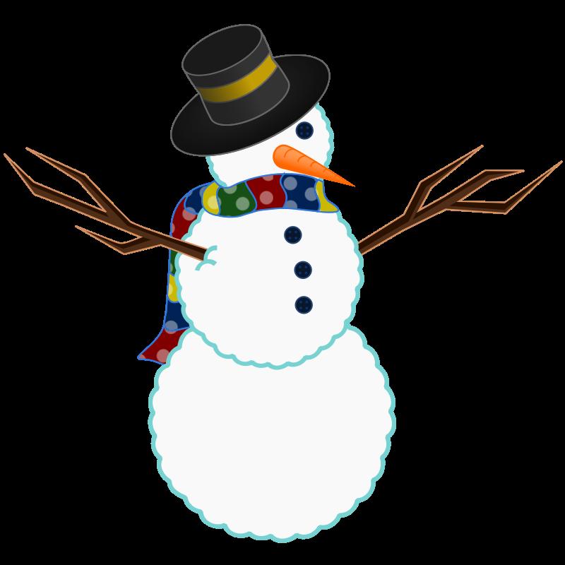 800x800 Free Snowman Clipart