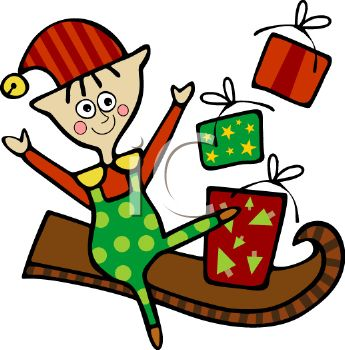 345x350 Royalty Free Clip Art Image Santa#39s Helper Making Christmas Toys