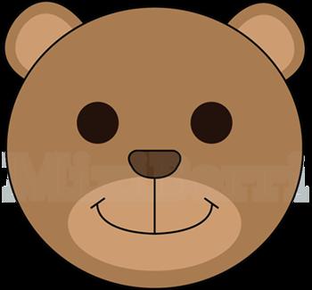 350x325 Bear clip art easy