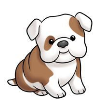 220x220 Cute Cartoon Dogs Clip Art Clipart Puppy Looking Back