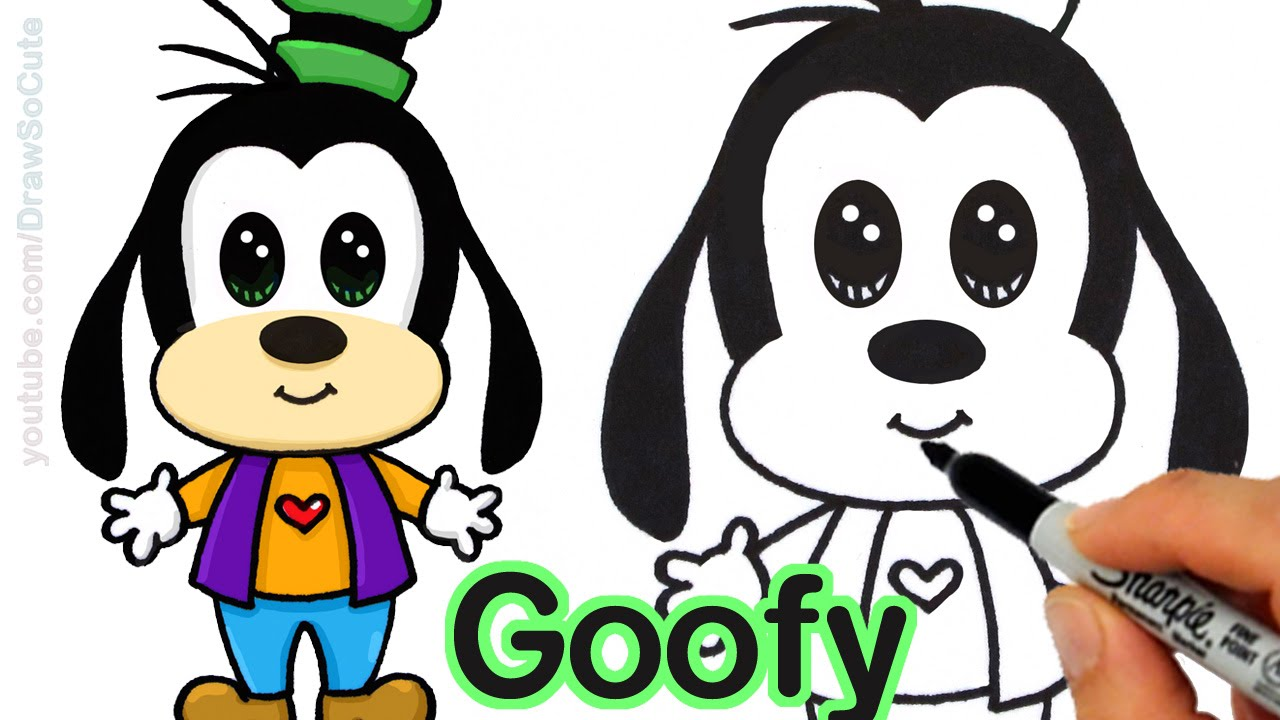 1280x720 How To Draw Goofy Easy Step By Step From Disney Cuties