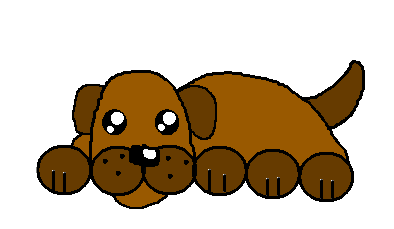 394x229 How To Draw A Simple Cartoon Dog 11 Steps (With Pictures)