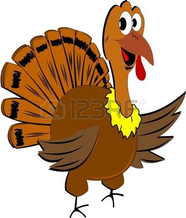 383x450 Cute Turkey Clipart