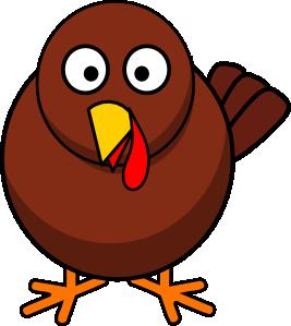 267x299 Turkey Round Cartoon Clip Art
