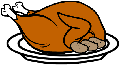 424x231 Cooked Turkey Clipart Free Images 2