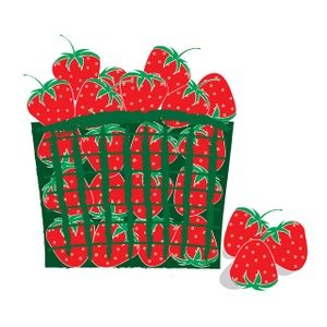 300x300 Clip Art Eating Strawberry Clipart 3