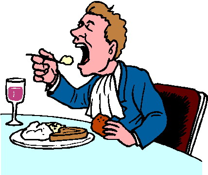 428x359 Couple Eating Clipart